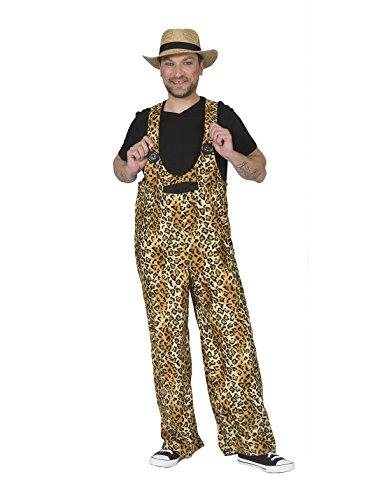 Kostüm Latzhose Leopard Badu Größe 48/50 Herren Damen Unisex Leopardenmuster Tierkostüm Wilde Tiere Afrika Safari Zoo Karneval Fasching Pierro's