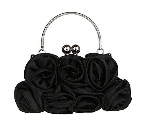 Aronvivi , Damen Clutch schwarz schwarz Einheitsgröße Schwarz (2)