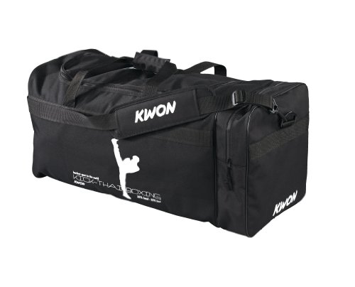 Kwon Trainingstasche Kick Thaiboxing, schwarz, 65 x 32 x 32cm, 5017004