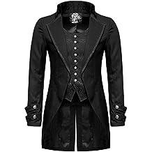 Handgefertigt Herren Steam Punk Frack Jacke Gothik Viktorianisch Mantel Knöpfe