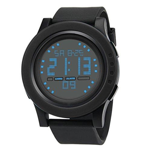 Dragon868 Herren Armbanduhr Luxus Analog Digital Militär Armee Sport LED Wasserdichte Armbanduhr (Schwarz) (Uhr Fossil Analog-digital)