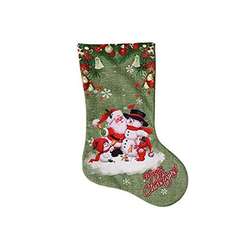 Beiilan stampa 3d pupazzo di neve babbo elk buon natale ciondolo ornamento calze natale calze dono candy bag