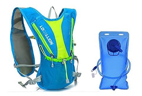 Home-Neat Hydratation Sac à dos avec Hydration Bladder 2 litres 70 oz Reservoir - Multiple Compartment- Storage Meilleur Outdoor Gear pour Running, randonnée, cyclisme et Plus (Bleu)