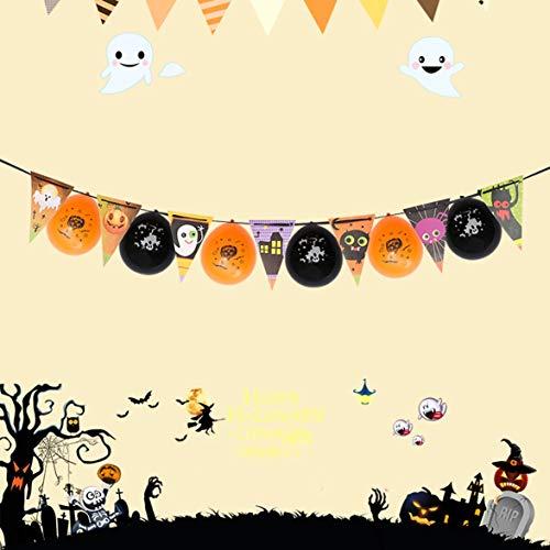 Kongqiabona Halloween Party Dekorationen Papier Dreieck Brief Cartoon Ballon Flagge Mode Anzieh Zubehör Seele Haus KTV Dekoration