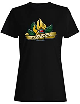 Cosecha colección de tatuajes escuela vieja camiseta de las mujeres g675f
