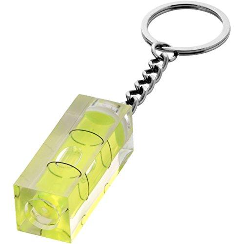 Bullet Schlüsselanhänger mit Wasserwaage (1,5 x 1,5 x 4 cm) (Transparent)