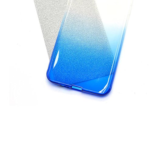 iPhone 6s Hülle, iPhone 6 Hülle, Vandot Schutzhülle für iPhone 6 6s Case Cover mit Kratzfeste Stoßdämpfende Ohr Ultra Thin Dünn Soft TPU Silikon Hülle Bling Shining Crystal Kristall Glitzer Rundum Sch Gradient Blau