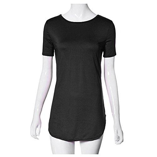 QingJiu Sexy Frauen Tops Kurzarm Seitenschlitz Lässige T-Shirt Party ()