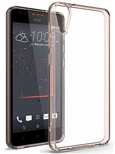 HTC Desire 10 Lifestyle Hülle, LK Kristall Durchsichtig Stoßfeste Schutzhülle Case mit Clear Back für HTC Desire 10 Lifestyle (Rosa Transparent)
