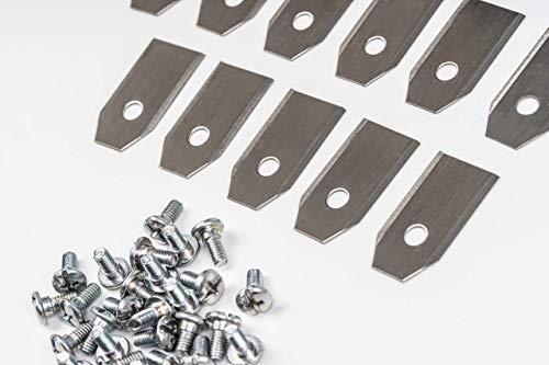 30 x Messer Klingen (0,75mm) für Husqvarna®, Automower® und Gardena® Mähroboter | passend für 105, 310, 315, 320, 420, 430x, R40Li | Premium Ersatzklingenset