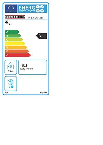 Stiebel Eltron Wandspeicher HFA-Z 30, offen und geschlossen, stufenlose Temperatureinstellung, Einkreis- und Zweikreisbetrieb, Aufheizanzeige, Schnellaufheizung-Funktion, 73111