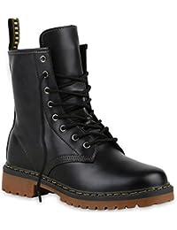 d4f41dedf364 Stiefelparadies Unisex Damen Herren Stiefeletten Worker Boots Profilsohle  Flandell