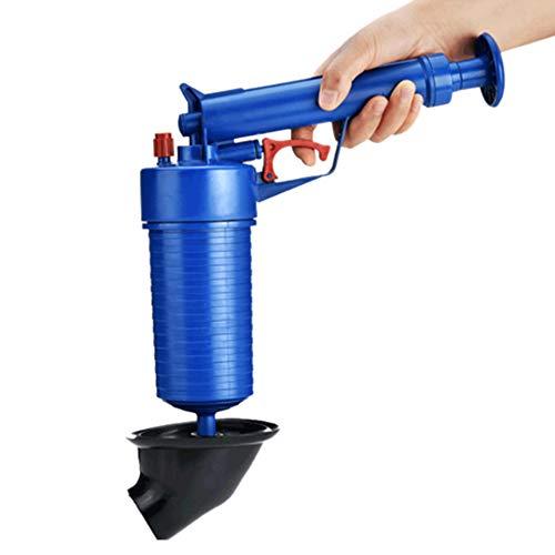 Air Drain Blaster, Hochdruck Leistungsstarke Manuelle Sink Plunger Opener Opener Pump Bath Toiletten, Bad, Dusche, Küche Clogged Pipe Bathtub (Blau) -