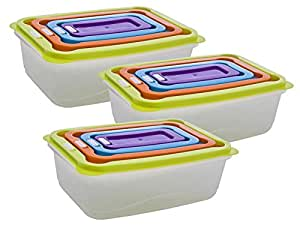 Stackable Plastic Food Containers (12)