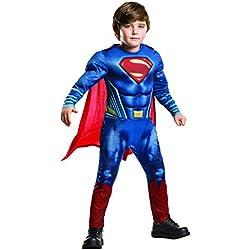Rubies Superman - Disfraz Batman v Superman para niños, talla M, edad 5-6 años (Altura 116cm / Cintura 53cm)