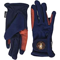 Toggi Children's Kids Medal Gloves Riding Pants-Navy, Small