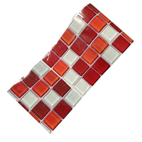 FENSIN Selbstklebende Mosaik Wandaufkleber Fliesenboden Küche Bad Wasserdicht 20X500cm für Küche Bad Fliesenfolie selbstklebend Wandaufkleber
