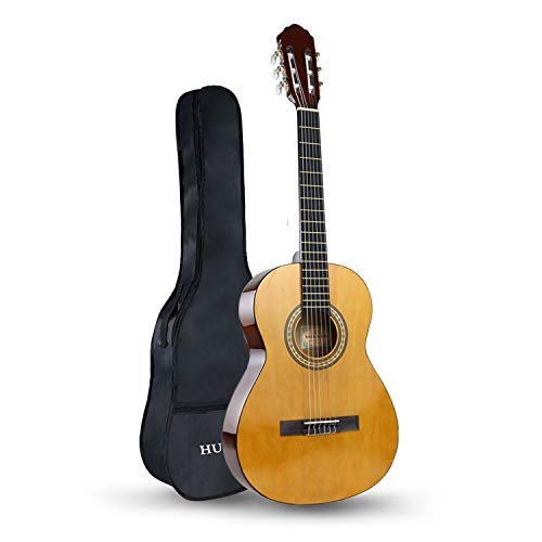 HUAWIND Guitarra Clásica 3/4, Guitarra Española con 6 Cuerdas de Nylon, Guitarra para Niños, Principiantes, Adultos