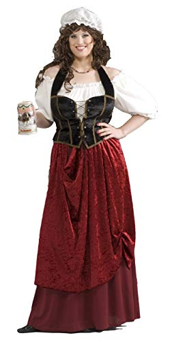 Tavern Wench Costume (Plus Size) Fancy Dress (Tavern Wench Kostüm Für Erwachsene)