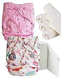 Maman et bb Nature - Pack découverte Couches lavables TE2 + insert et voiles de protection - Kit Candy te2