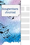 Songwriters Journal: Songwriting Notebook , Cornell Notes and Staff Paper with room for Guitar Chords, Lyrics and Music. Songwriting Journal for ... , Lyricists. Blue Purple Watercolor Stave