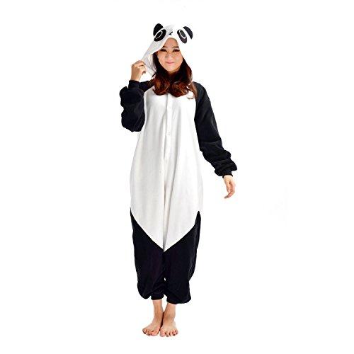 für Erwachsene Unisex-Modell Einteiler Jumpsuit ideal Pyjama oder Cosplay-Verkleidung Panda (Cartoon Kostüme Für Frauen)