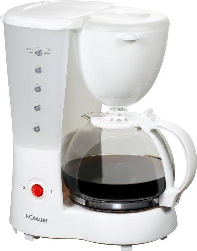 Bomann KA 165 CB, Blanco, 800 W - Máquina de café