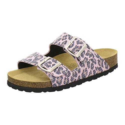 AFS-Schuhe 2100, Bequeme Damen Pantoletten echt Leder, praktische Arbeitsschuhe, Hausschuhe, Handmade in Germany Größe 36 EU Mehrfarbig (Leopard) - 36 Leder