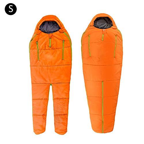 Blue-Yan Schlafsack, Ultraleicht, warm, tragbar, für draußen, Camping, Einzelschlafsack, Winddicht, Baumwolle, Orange, S