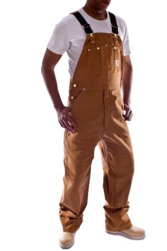 Carhartt - Latzhose, Denim - Braun Jeanslatzhose Jeans Arbeit Latzhosen männer R01Brown-42W-34L - Carhartt Herren Latzhose Overall