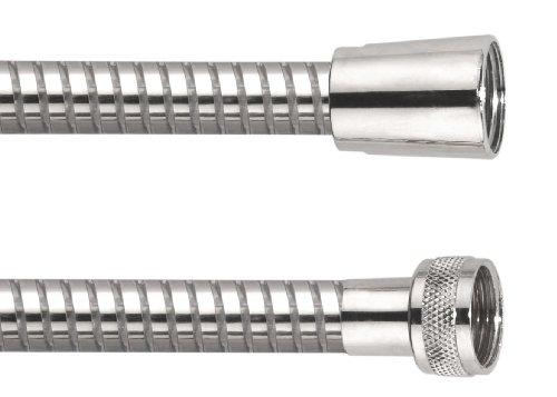 Cornat Brauseschlauch Kunststoff 2000 mm, transparent/verchromt / Duschschlauch / Verbindungsschlauch / Duschsystem / Badezimmer / TECB3373