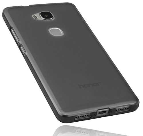 mumbi Schutzhülle für Huawei Honor 5X Hülle transparent schwarz