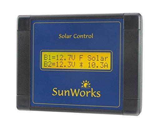 170 Watt-solar-panel (Solar Panel Laderegler Regulator Doppelbatterie für Wohnmobile und Boote. Sunworks DB1C 11 Ampere (170 Watt). Intelligente Automatik PWM Solarladevorgang. Schwarz.)