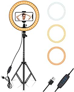 """SYL 18"""" LED Ring Light with Light Stand Kit DRL 19H, Dimmable 60W 3200K/6500K LED Ring Light with Hot Shoe Adapter, Phone Holder Best for YouTube Tiktok Makeup Video Shooting, Cosmetic Shops, Skin / Dentist Doctors"""