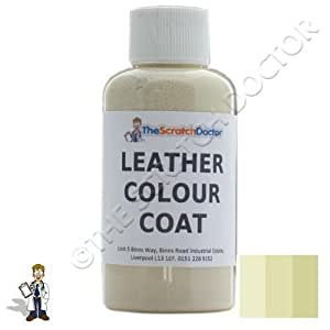 Leather Colour Coat Re-Colouring Kit / Dye Stain Pigment Paint (Ivory)