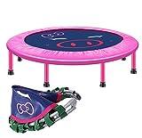 Trampolino fitness HUO Trampolino A Colori per Bambini,Trampolino Elastico Professionale Adulti, Trampolino per Interno E da Giardino (Color : Pink)