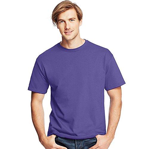 Preisvergleich Produktbild T-Shirt girocollo ComfortSoft T-Shirt_Purple_L da uomoMen's Tall Man Traditional ComfortSoft Crewneck Undershirt 4-Pack_White_XL