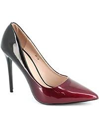 Amazon.es  Granate - Zapatos de tacón   Zapatos para mujer  Zapatos ... 5704b1d2f730