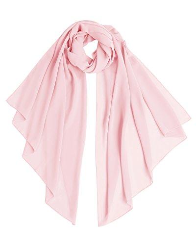 Bridesmay donna chiffon scialli da sposa prom wraps sera sciarpe pink l 200cm*75cm