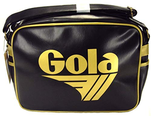 Original Gola Redford Classic Retro 70s Messenger Shoulder Bag black/gold