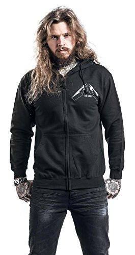 Metallica Master Of Puppets Faded Sweat à capuche zippé noir Noir