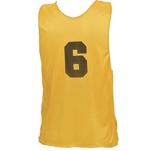 Champion Sports Adult Numbered Practice Vest, (confezione da 1), Uomo, PSANYL, Yellow, L Gold (PSANYL)
