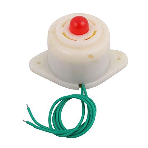 sourcing map Sirena alarma sonora de Luz roja intermitente electrónica del sonido de 2 Cable 220V BJ-3
