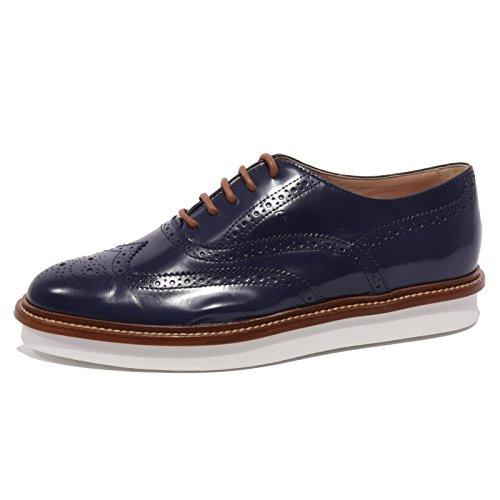 B1438 scarpa inglese donna TOD'S francesina bucature blu shoes women Blu
