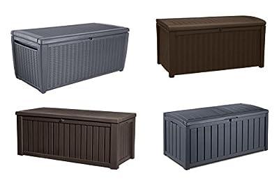Keter Kissenbox Auflagenbox Gartentruhe Sitzbank Kunststoffbox von Keter bei Du und dein Garten