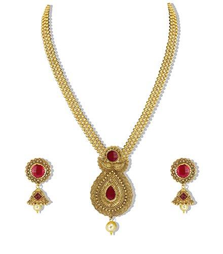 Zaveri Pearls Traditional Non-Precious Metal Necklace Set For Women -...