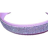 """Collar navideño para perro Pet PalaceTM """"Pretty in Pink"""" de piel sintética con brillantes y luz LED intermitente"""