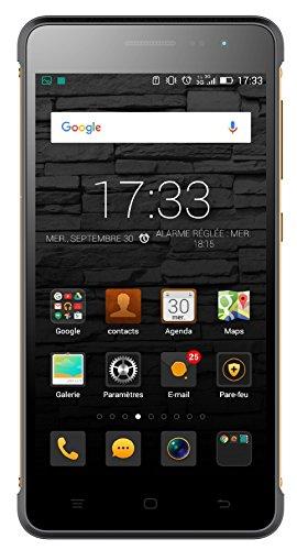 Hisense HS-G610M Smatphone (12,7 cm (5 Zoll), Quad Core MSM8916, 1,2 GHz, 8 Megapixel Kamera, Touchscreen, 16GB Speicher, Android 4.4) schwarz