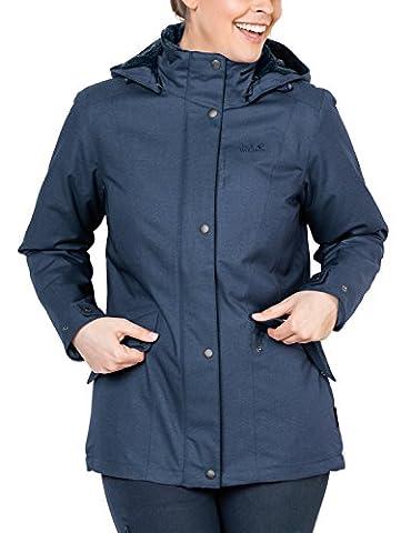 Jack Wolfskin Damen Park Avenue Jacket Wetterschutzjacke, Dark Sky, S (Sky Heather)