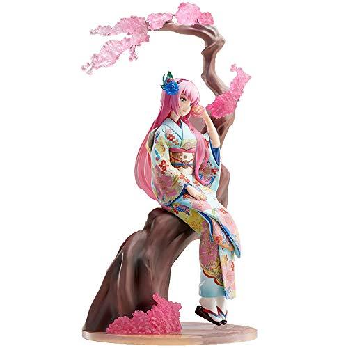 YOUZHILAN Vocaloid Hatsune Miku Sakura Kimono Megurine Luka PVC Figure (Megurine Luka) -